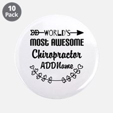 "Personalized Worlds Most Awe 3.5"" Button (10 pack)"