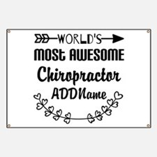 Personalized Worlds Most Awesome Chiropract Banner