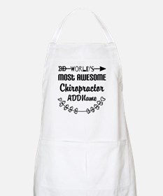 Personalized Worlds Most Awesome Chiropracto Apron