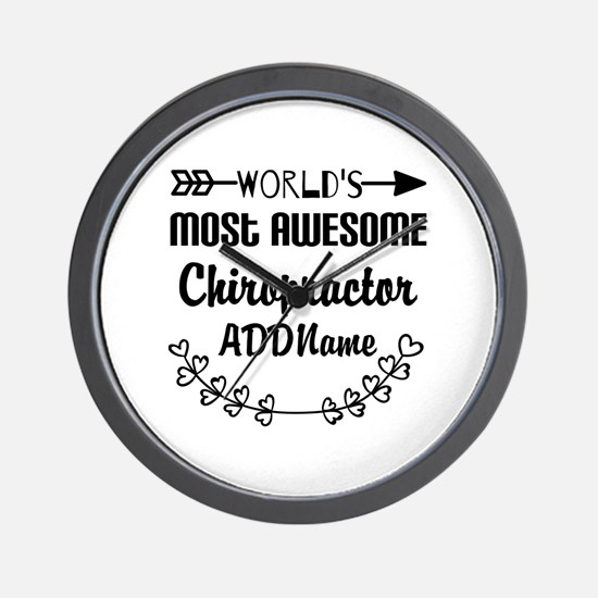 Personalized Worlds Most Awesome Chirop Wall Clock