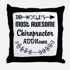 Personalized Worlds Most Awesome Chir Throw Pillow