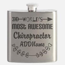 Personalized Worlds Most Awesome Chiropracto Flask