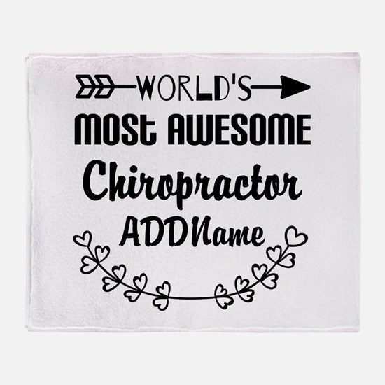 Personalized Worlds Most Awesome Chi Throw Blanket