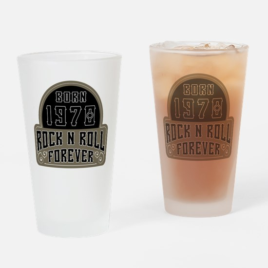 Birthday Born 1970 Rock And Roll Drinking Glass