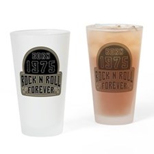 Birthday Born 1975 Rock And Roll Drinking Glass