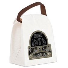 Birthday Born 1975 Rock And Roll Canvas Lunch Bag