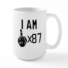 I Am Middle Finger Times 87 Mugs