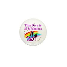 25TH PRIMA DONNA Mini Button (10 pack)