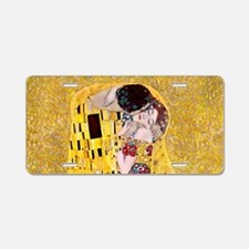 Klimt The Kiss Lovers Aluminum License Plate