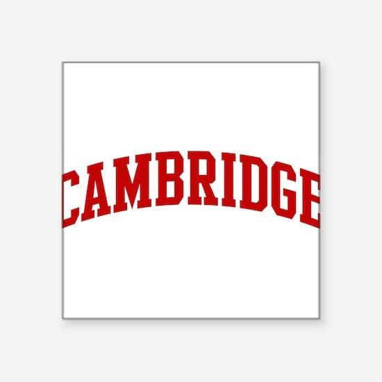 """Cute Cambridge university Square Sticker 3"""" x 3"""""""