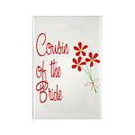 Bouquet Bride's Cousin Rectangle Magnet (10 pack)