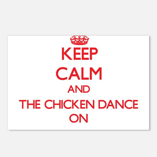 Keep Calm and The Chicken Postcards (Package of 8)