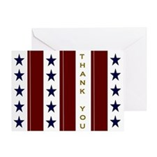 Patriotic Thank You For Milspouse Greeting Cards