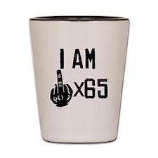I Am Middle Finger Times 65 Shot Glass