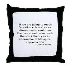 The Stork Throw Pillow