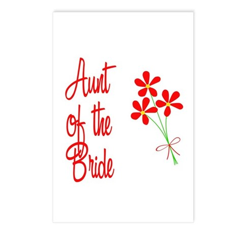 Bouquet Bride's Aunt Postcards (Package of 8)