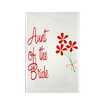 Bouquet Bride's Aunt Rectangle Magnet (100 pack)
