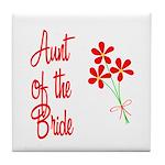 Bouquet Bride's Aunt Tile Coaster
