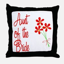 Bouquet Bride's Aunt Throw Pillow