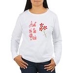 Bouquet Bride's Aunt Women's Long Sleeve T-Shirt
