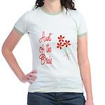 Bouquet Bride's Aunt Jr. Ringer T-Shirt