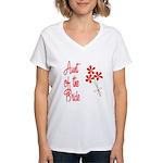 Bouquet Bride's Aunt Women's V-Neck T-Shirt