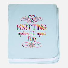 Knitting More Fun baby blanket