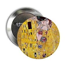 "Klimt The Kiss Lovers 2.25"" Button"