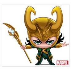 Loki Stylized Wall Art Poster