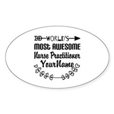 World's Most Awesome Nurse Practit Decal
