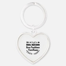 World's Most Awesome Nurse Practit Heart Keychain