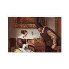 The Harpsichord Lesson Rectangle Magnet