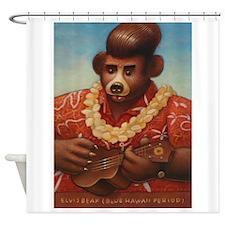 Elvis Bear Shower Curtain