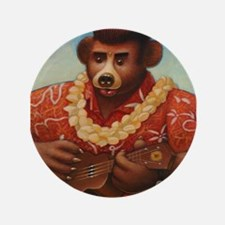 Elvis Bear Button