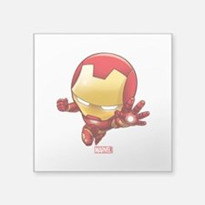 "Iron Man Stylized 2 Square Sticker 3"" x 3"""