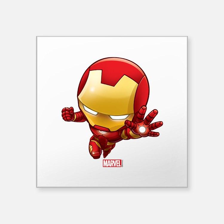 """Iron Man Stylized 2 Square Sticker 3"""" x 3"""""""
