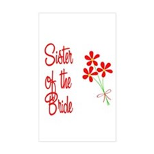 Bouquet Bride's Sister Rectangle Decal