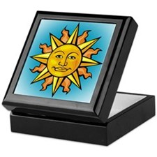 Sun Face Keepsake Box