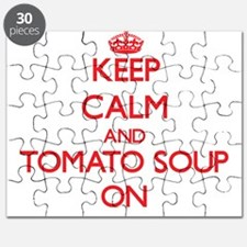 Keep Calm and Tomato Soup ON Puzzle