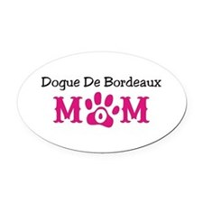 Dogue De Bordeaux Oval Car Magnet