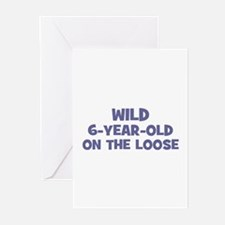 Wild 6-Year-Old On the Loose Greeting Cards (Pk of