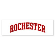 ROCHESTER (red) Bumper Car Sticker