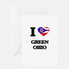I love Green Ohio Greeting Cards