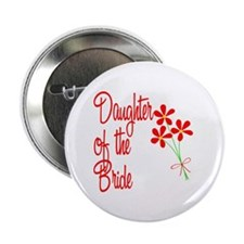 Bouquet Bride's Daughter Button