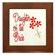Bouquet Bride's Daughter Framed Tile