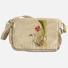 Stylish Abstract Floral Design Messenger Bag