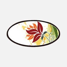 Stylish Abstract Floral Design Patch