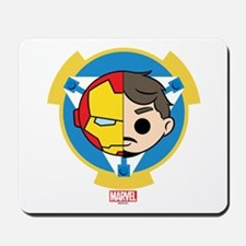 Iron Man Stylized Badge Mousepad