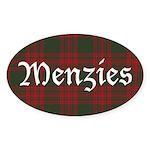 Tartan-Menzies hunting Sticker (Oval 10 pk)