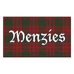 Tartan-Menzies hunting Sticker (Rectangle 50 pk)